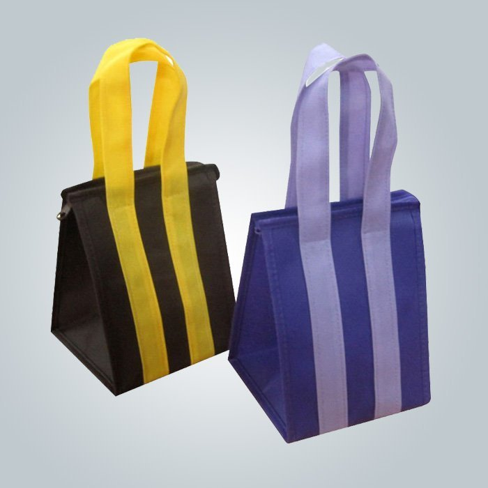 Custom Eco Promotional Long Handle PP non woven bag with zipper
