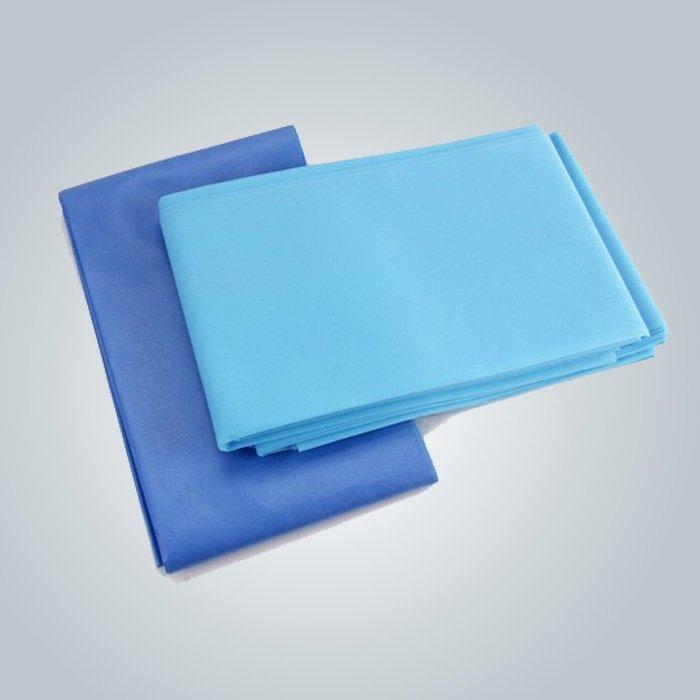 Factory Made Cheap Hygienic Massga Bedsheet For Massage Spa Using Blue Color