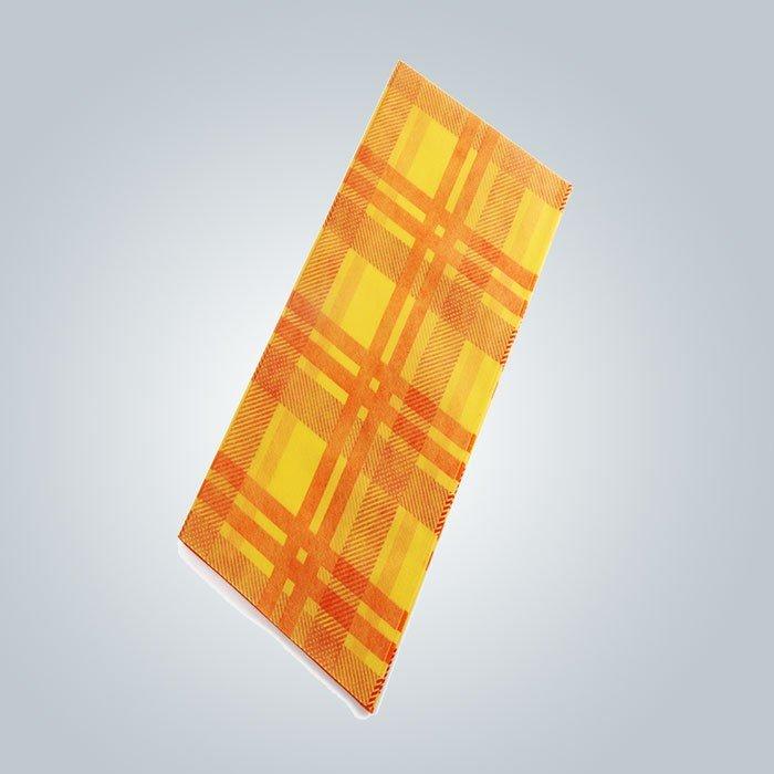 Druckquadrat-hitzebeständige farbige tägige nicht gesponnene Tischdecke 45gsm benutzt für das Dinning