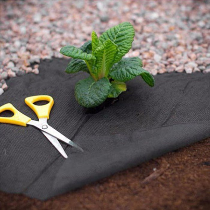how to use weed control fabric