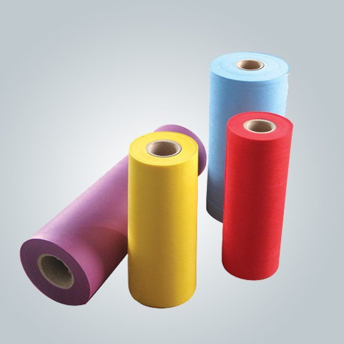 Green SS spunbond nonwoven make small roll  using in spa bed sheet