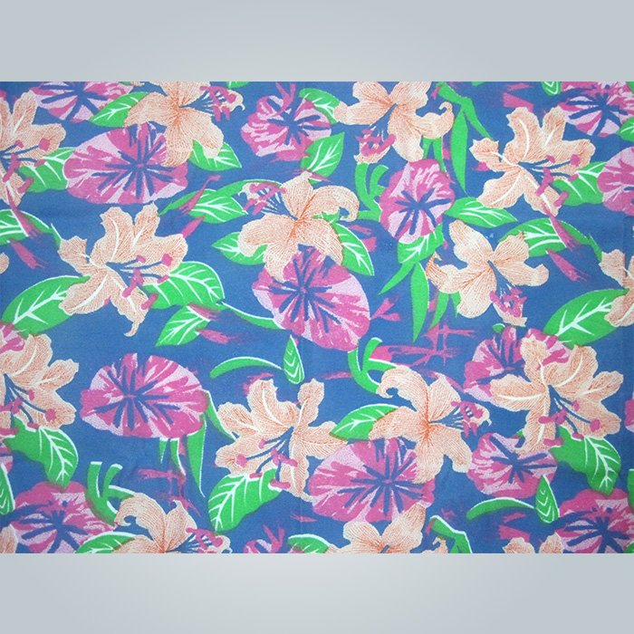 Flower printing nonwoven fabric use to mattress quilting or table colthes