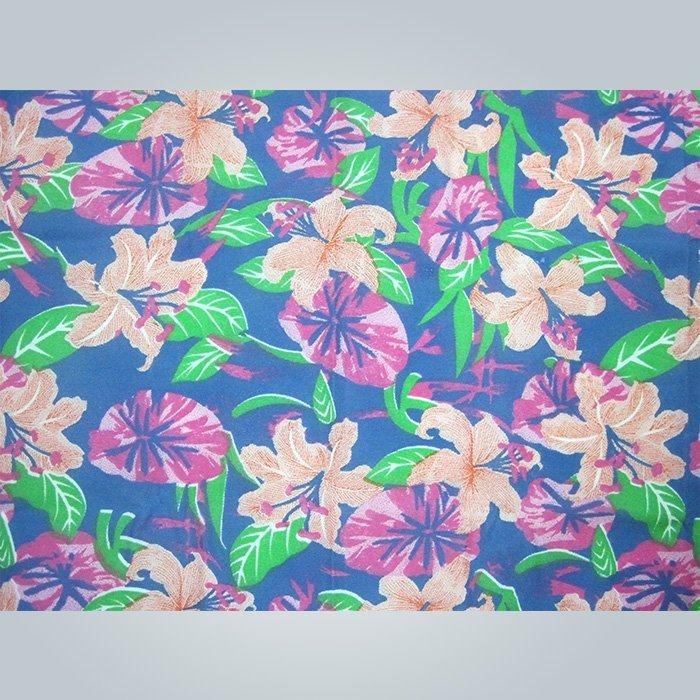 Fleur impression tissu non-tissé utilisation de matelas matelassage ou table colthes