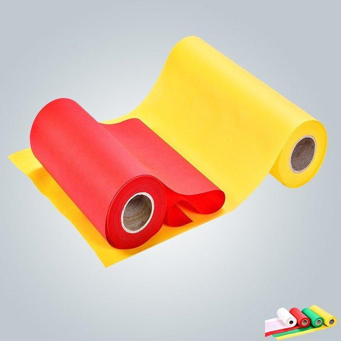 Tissu non tissé spunbonded de polypropylène ignifuge de 100% pp montré dans la foire de canton