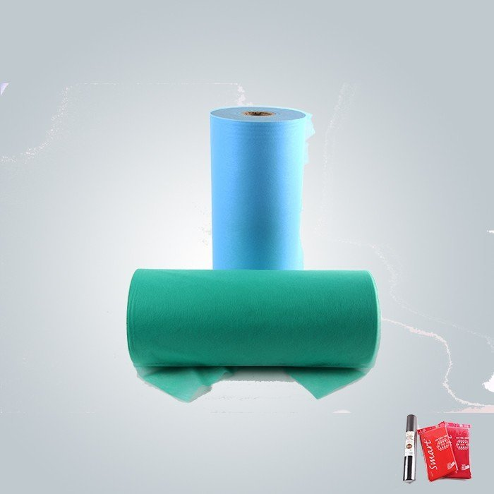 Blue and yellow color furniture nonowoven fabric is for mattress quilting