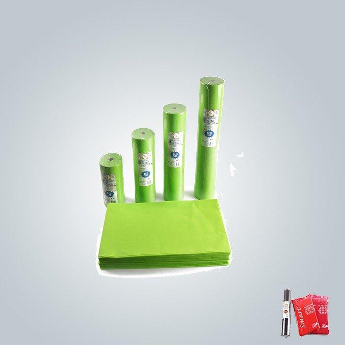 Tischdecke kleine Rollen in grün