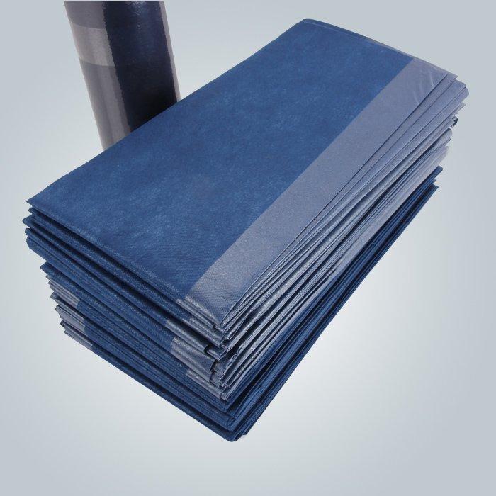 濃い青色は、マッサージの不織紙シーツを積層