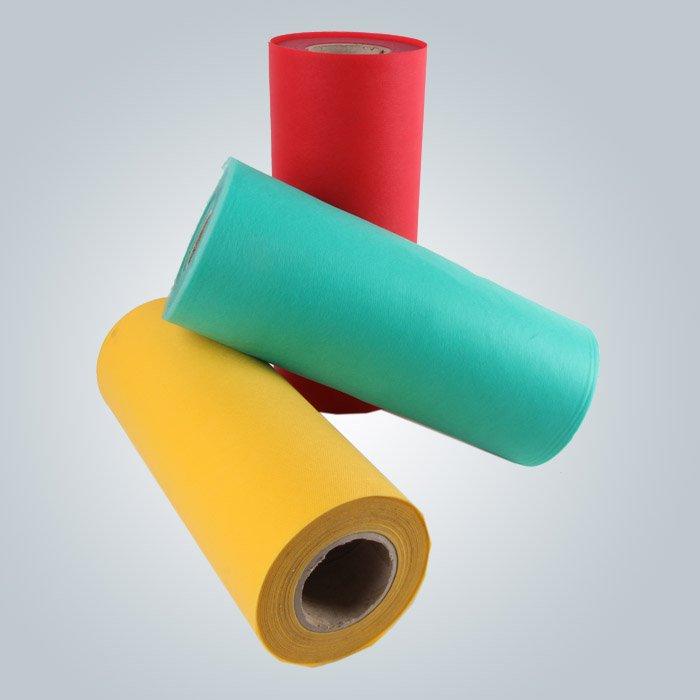 100 % pp spunbonded non tissu tissé en différentes couleurs