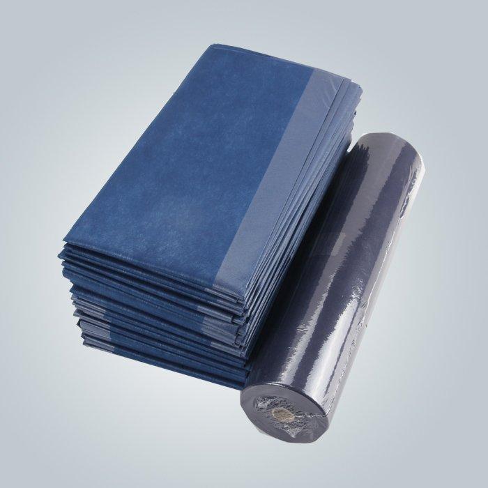 Bedsheet non tissé de Diposable de rouleau pré-coupé antibactérien de largeur de 80cm pour l'hôpital