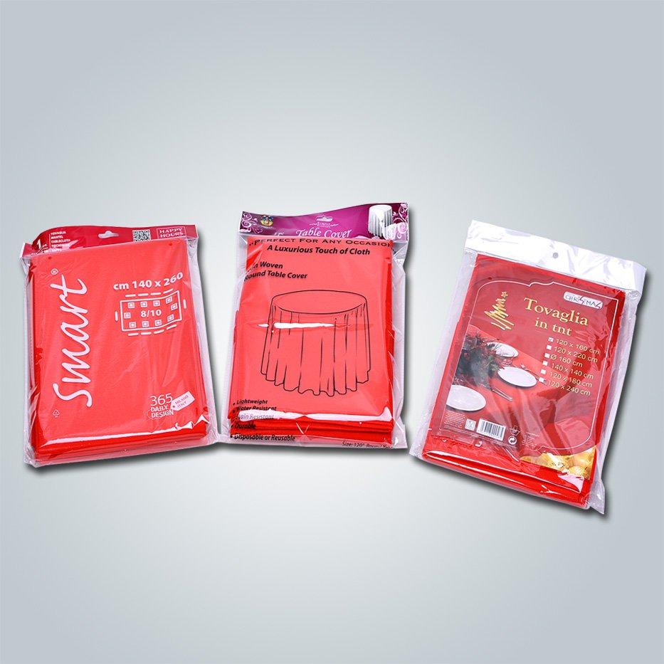 Single verpackt TNT nicht nicht gewebte Tischdecke Spunbond Stoff