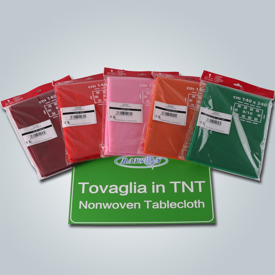 Single packed TNT non non woven tablecloth spunbond fabric