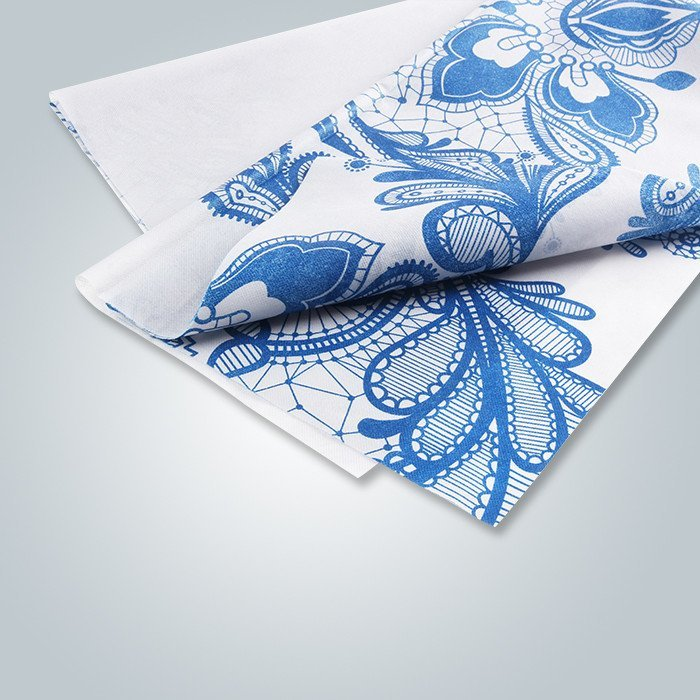 Custom Printed Non Woven Tablecloth with Floral Pattern