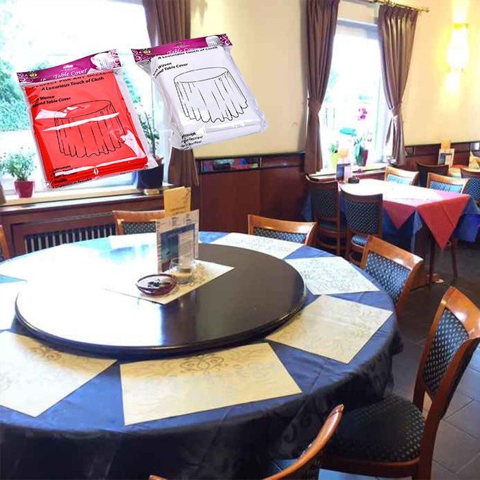 Elegant design round table cover in non woven for party