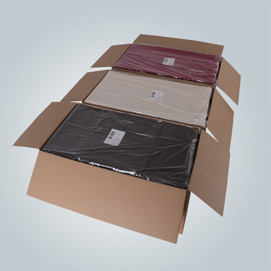 AZO free bordeaux TNT tablecloth non woven material