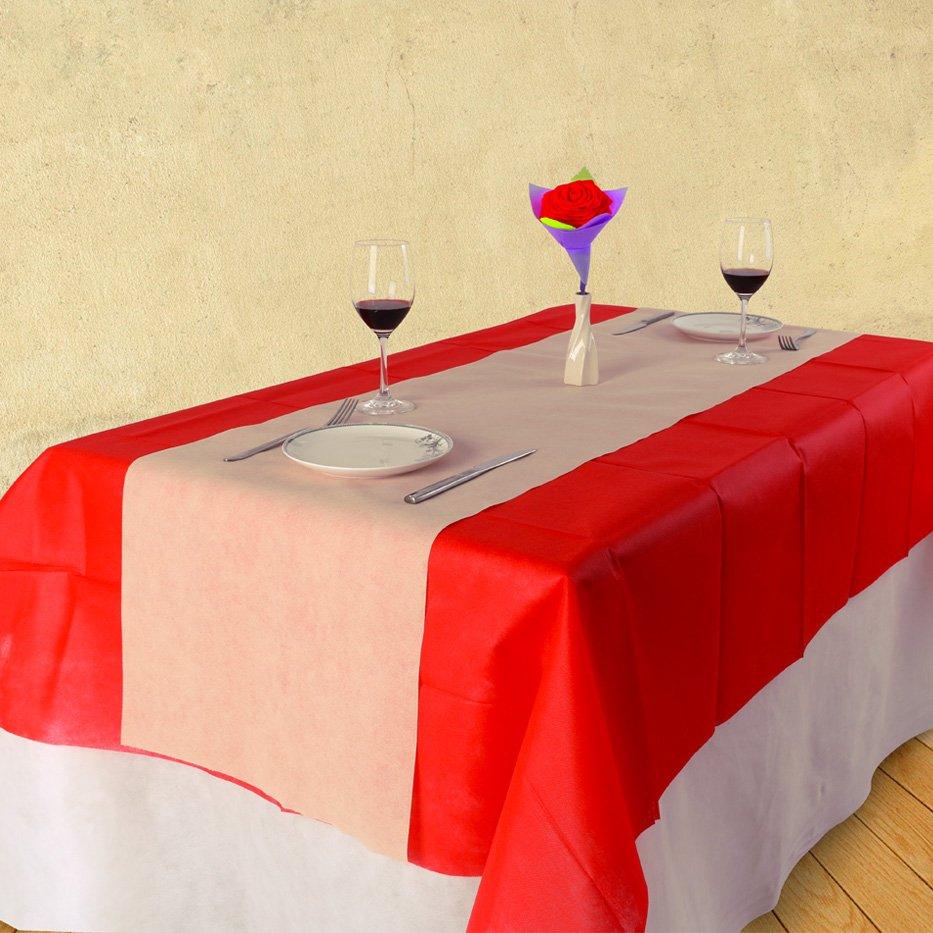 フランスの市場に 1.2 m × 10 m リサイクル可能な非編まれたテーブル クロス ロールします。