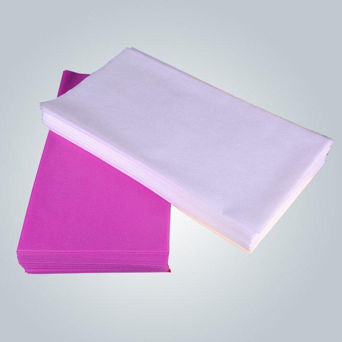 Utilisation couvercle antibactérien jetable canapé dans la salle de Spa du visage