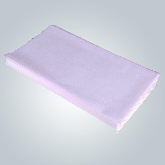 Einweg-weiße Polypropylen Vliesstoff Massage Untersuchungstisch Blatt 75 x 180 cm