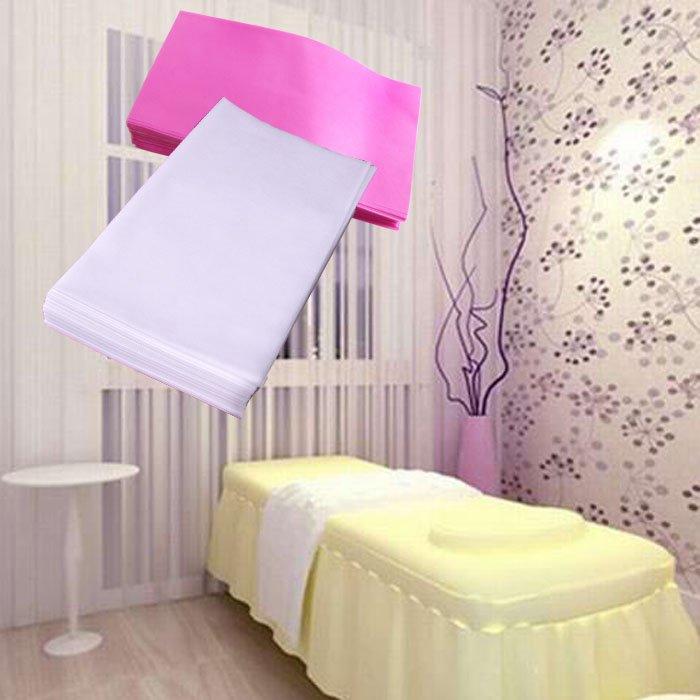 Disposable White Polypropylene Nonwoven Exam Massage Table Sheet 75 x 180 cm