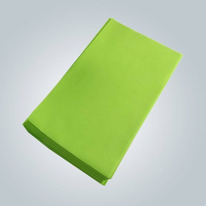 Green Color 100% Virgin Non woven Fabric Bedsheet hygienic to skin
