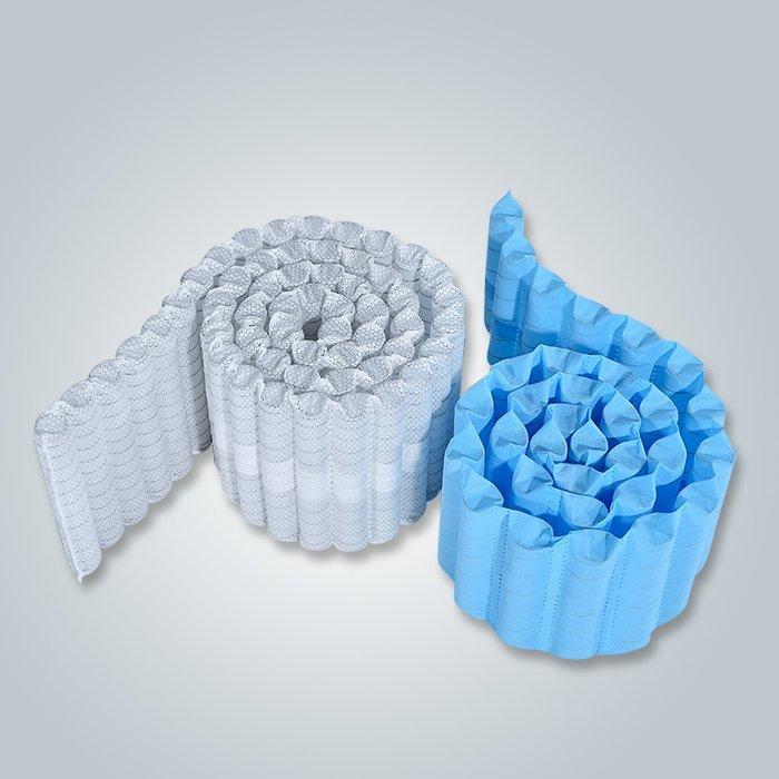 Utilisation de ressorts ensachés 70gr couleur blanc bleu Spunbond non tissé