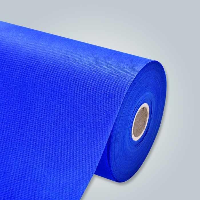 Tissu bleu pp non tissé pour drap de lit jetable