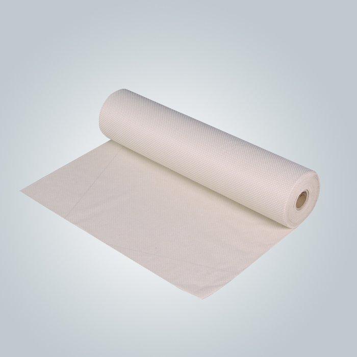 Beige / grey 90gram anti slip non woven fabric for mattress