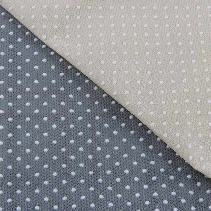 Tissu anti dérapant de point de PVC de non glissement dans le tissu non-tissé