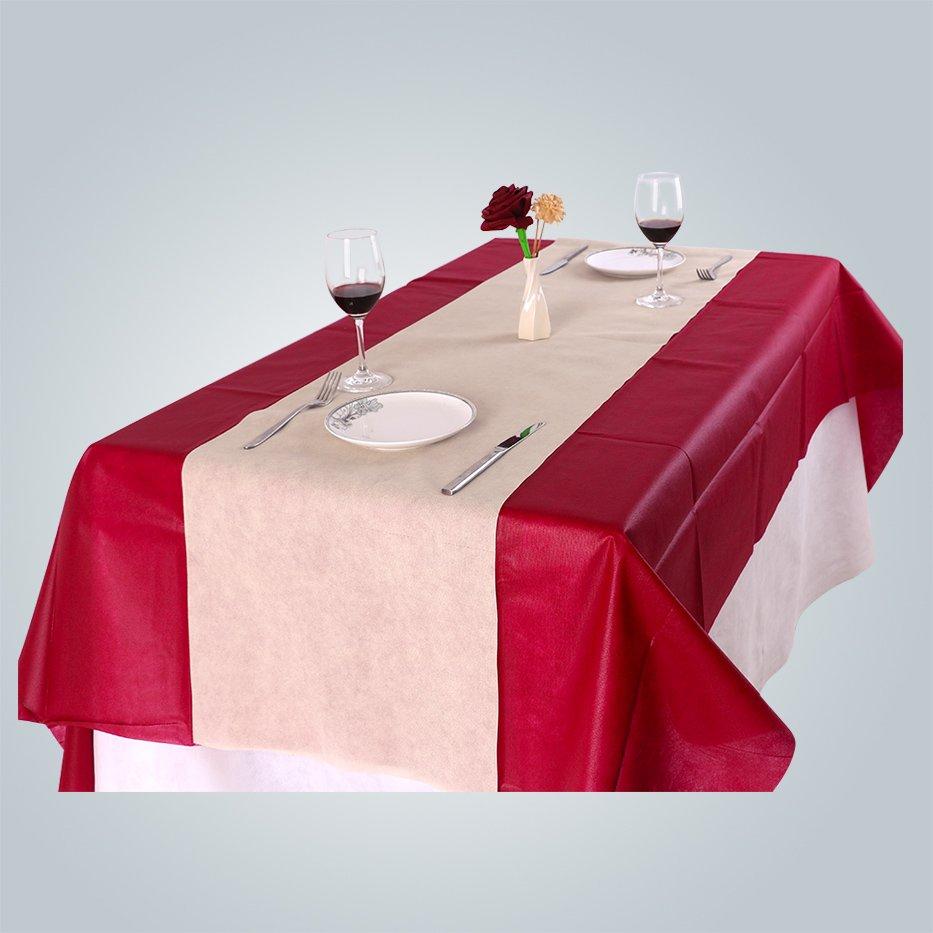 Bordeaux TNT Vlies Tischdecke für Party