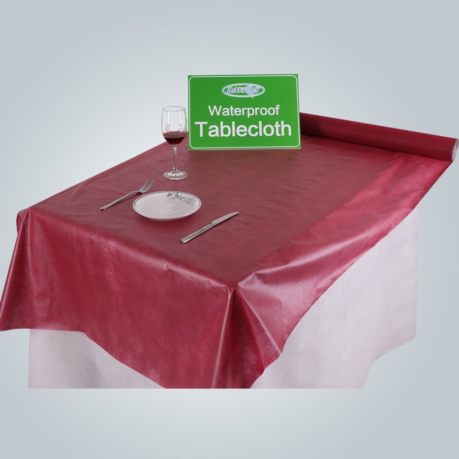 Rouleau de table non tissé imperméable à 50gsm avec film PE