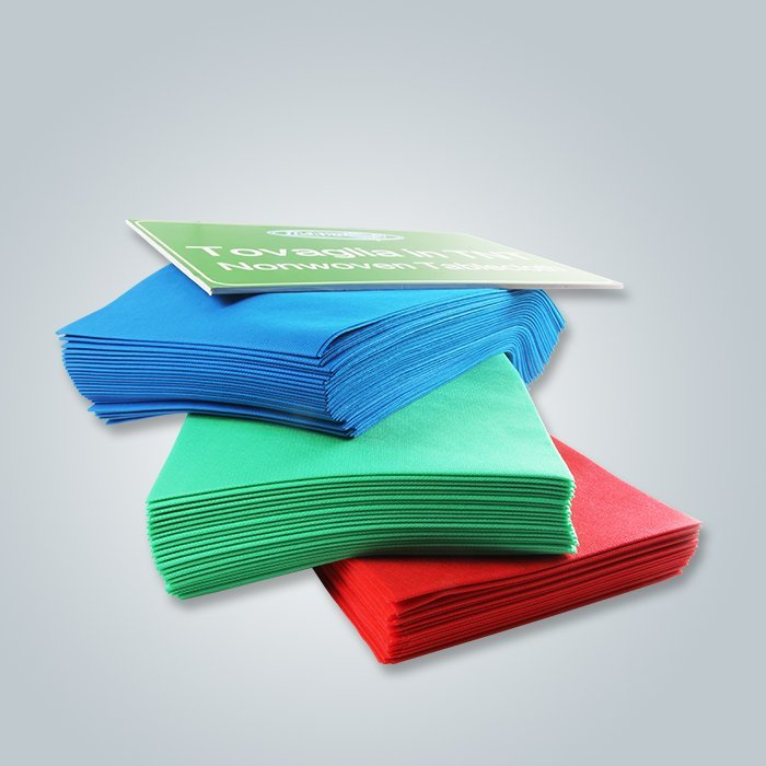 Non woven table cloth in blue