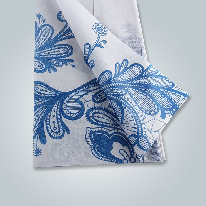 Polypropylene Non Woven Raw Material Printed Fabric Table Cover For Cheap Price