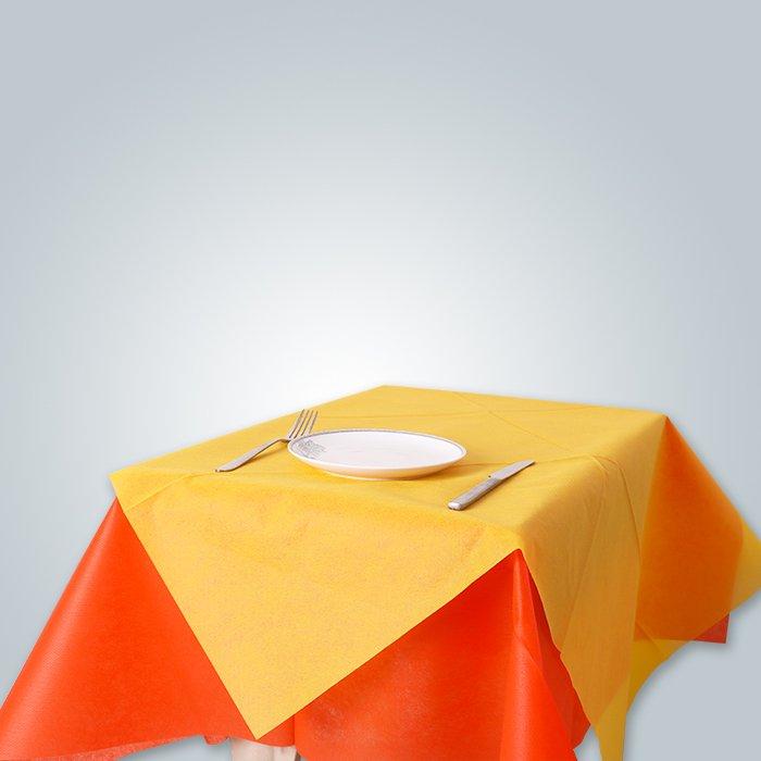 Tissu jetable de table pour l'usine de Foshan de banquet de partie