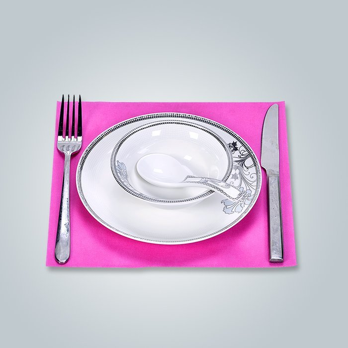 Tissu non tissé en polypropylène 33 x 45 Ensemble de plats, serviettes en lin