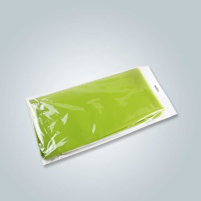 Spunbond Nonwoven Green Color Individual Packing Table Cloth For Retail