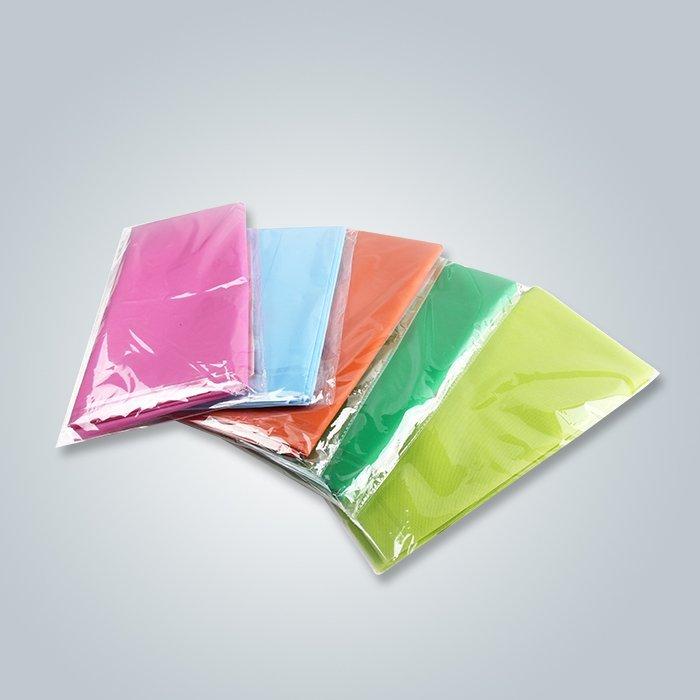Spunbond-nichtgewebte grüne Farbindividuelle Verpackungs-Tischdecke für Einzelhandel