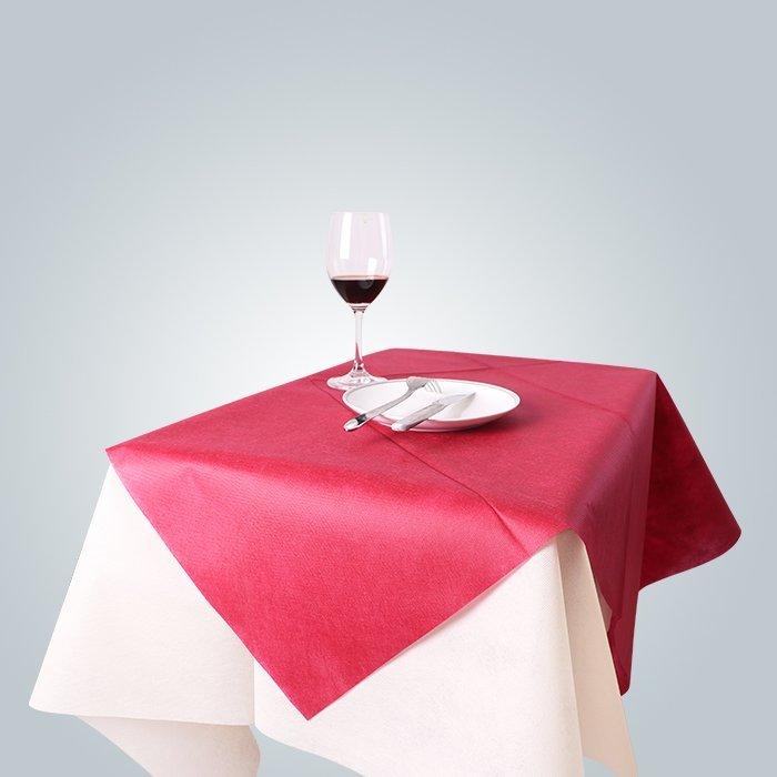 Spunbond nicht gewebte Tischtücher 60gsm Bordeaux