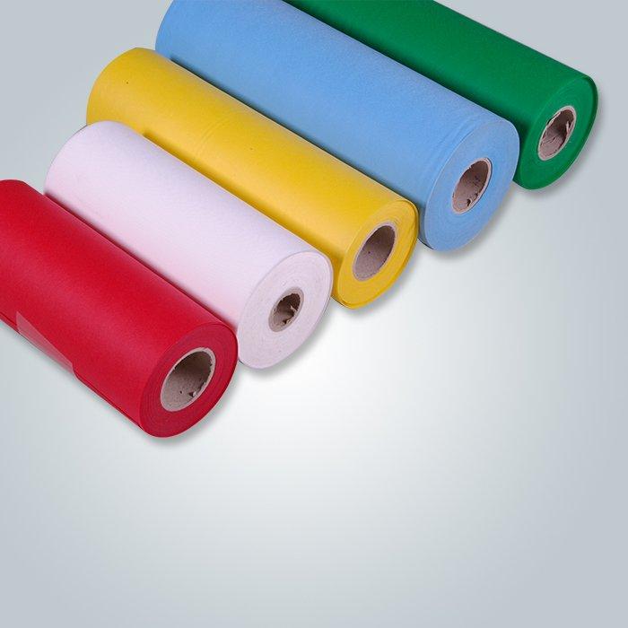 Petit pain non tissé ignifuge de tissu tissé de Spunbond / tissus non tissés de polypropylène