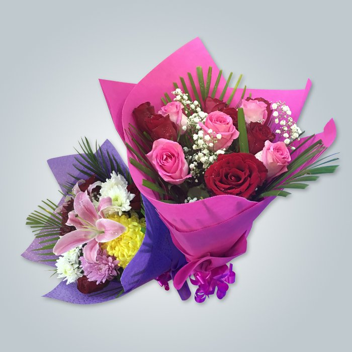 Fashion Design 50 Gsm Flower Packing Nonwoven In EAU Market