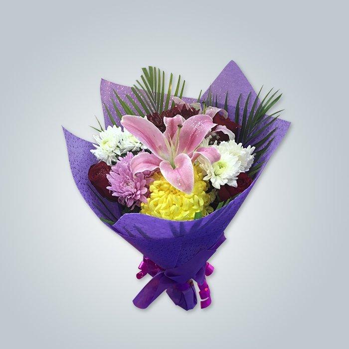 China Hochwertige PP Spunbond Nonwoven Frische Blumen Verpackung Stoff