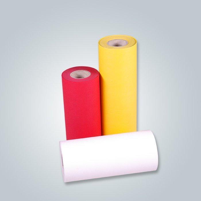 Tela no tejida 100% de los PP Spunbond de la tela no tejida amarillo