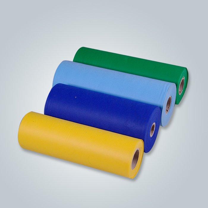Tissu tissé non tissé de Spunbond PP de 100% de solides solubles non tissé jaune
