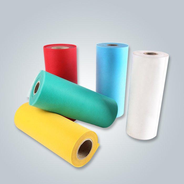 Tissu non tissé coloré de TNT pour la couverture de matelas