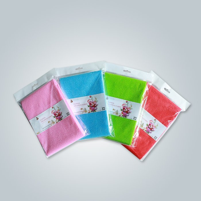 Biodegrable TNT Embossed Flower Wrappers