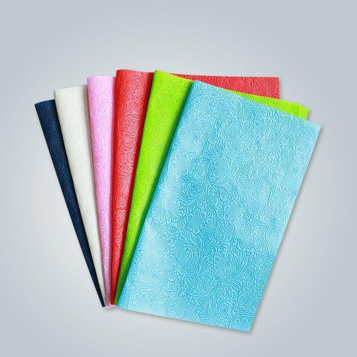 異なるパターンの不織布