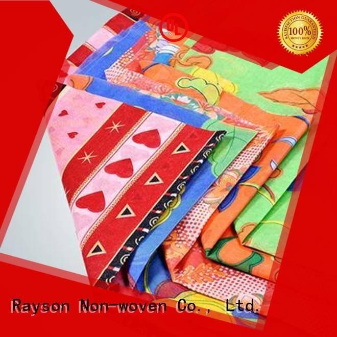 rayson nonwoven, ruixin, enviro Polypropylène non tissé certifié par marque