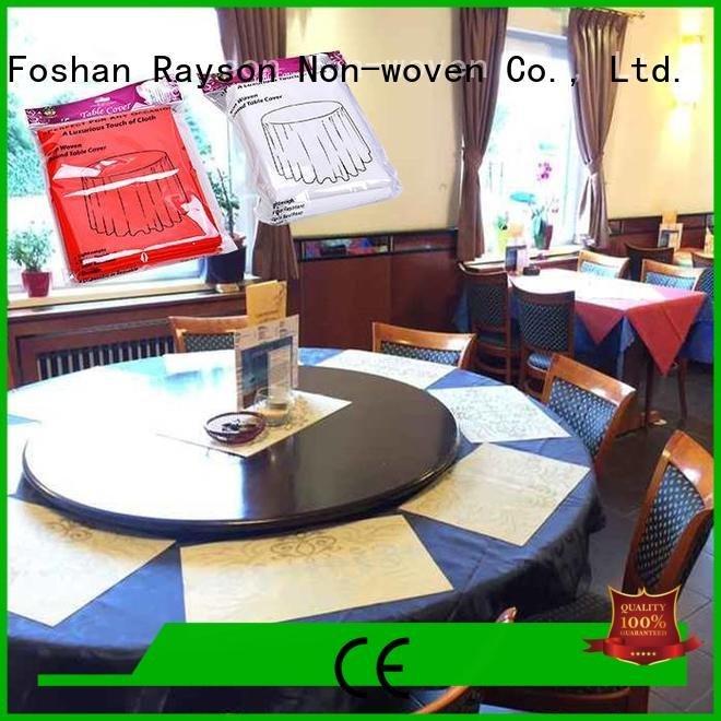 prices non woven fabric tablecloth rayson nonwoven,ruixin,enviro raw material for non woven fabric
