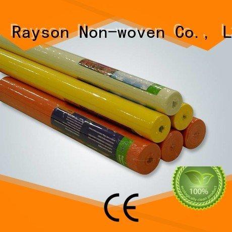 rayson nonwoven, ruixin, enviro Marque largement le tissu non-tissé de polypropylène spunbond de couche-culotte