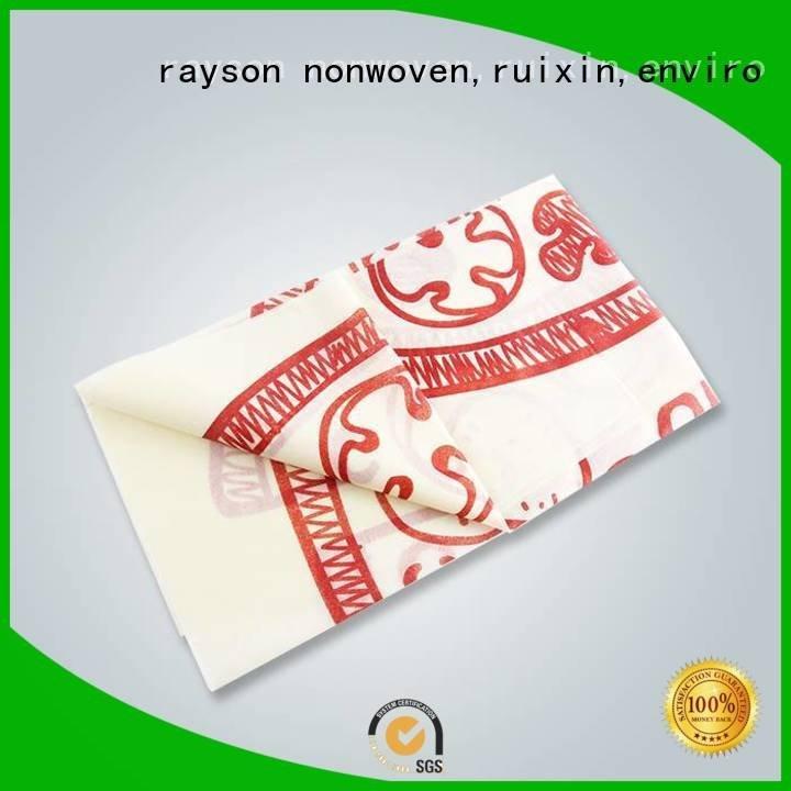 heat on pp non woven fabric manufacturer rayson nonwoven,ruixin,enviro Brand