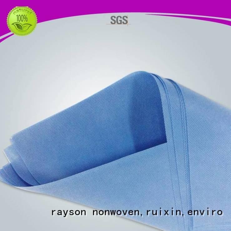rayson nonwoven,ruixin,enviro non woven clothes elogation polypropylene oem bright