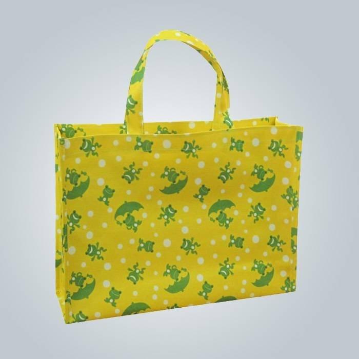 Trwałe i recycle pp non tkane torby z logo priniting, torba z długim uchwytem
